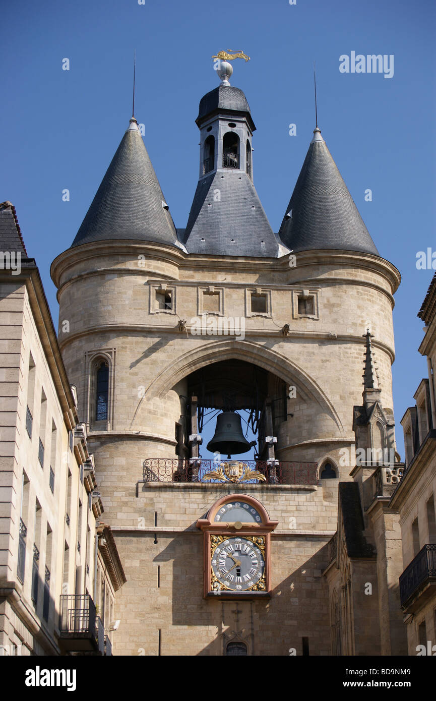 Grosse Cloche city gate, Bordeaux, Gironde, France Stock Photo