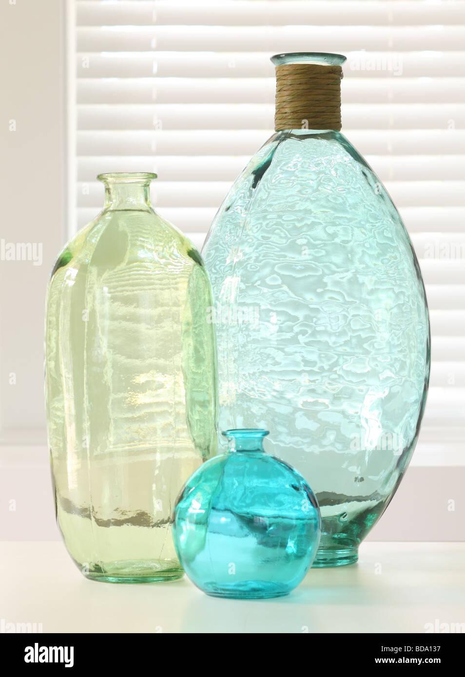 Glass bottles - Stock Image