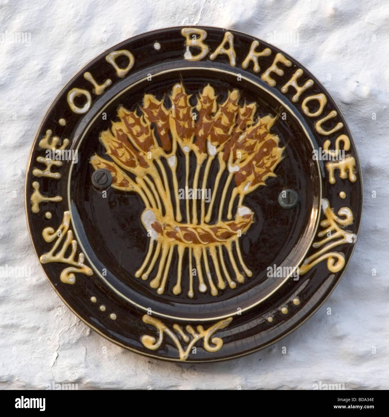 Kimbolton village old bakehouse sign, Cambridgeshire, East Anglia, UK, Europe - Stock Image