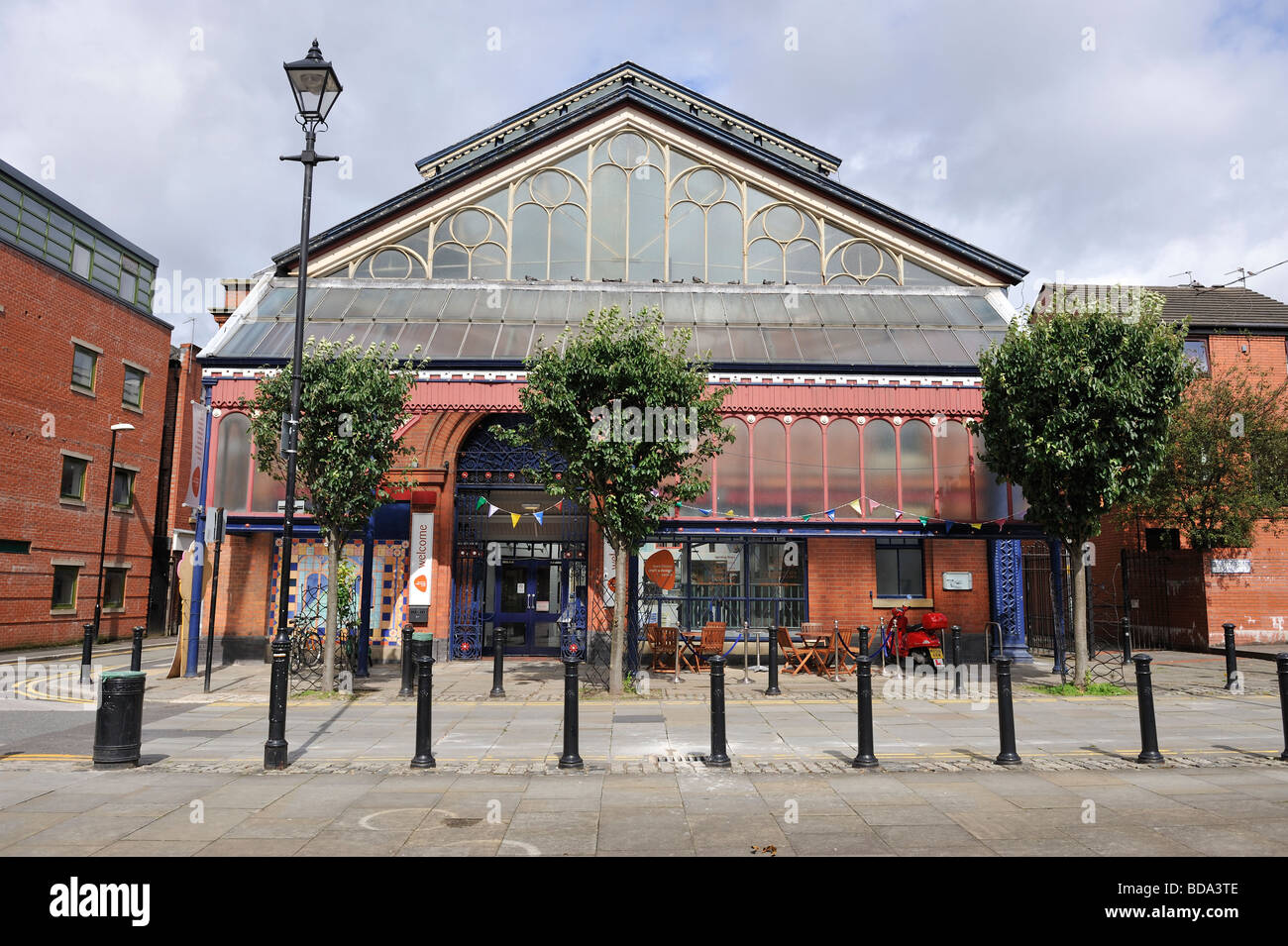 Northern Quarter Manchester Art and Crafs Centre, in the old Fish Market - Stock Image