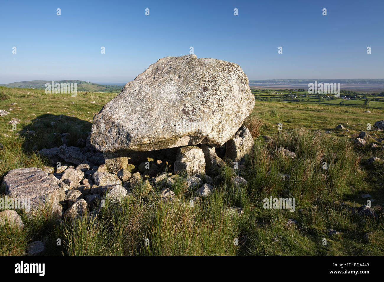 Arthur's Stone burial chamber tomb Gower Peninsula Wales UK - Stock Image
