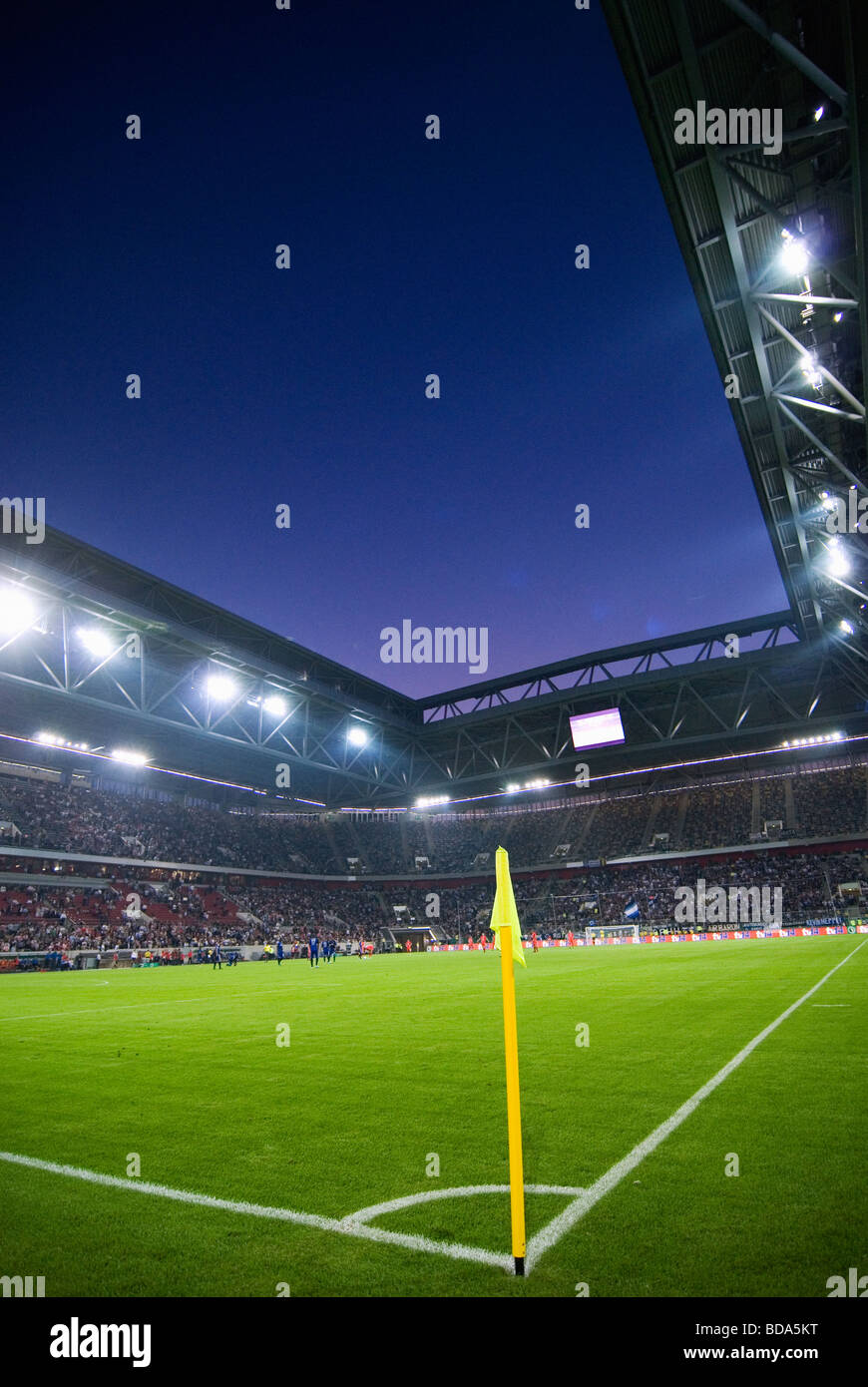 The ESPRIT Arena in Duesseldorf, Germany during a soccer match. Stock Photo