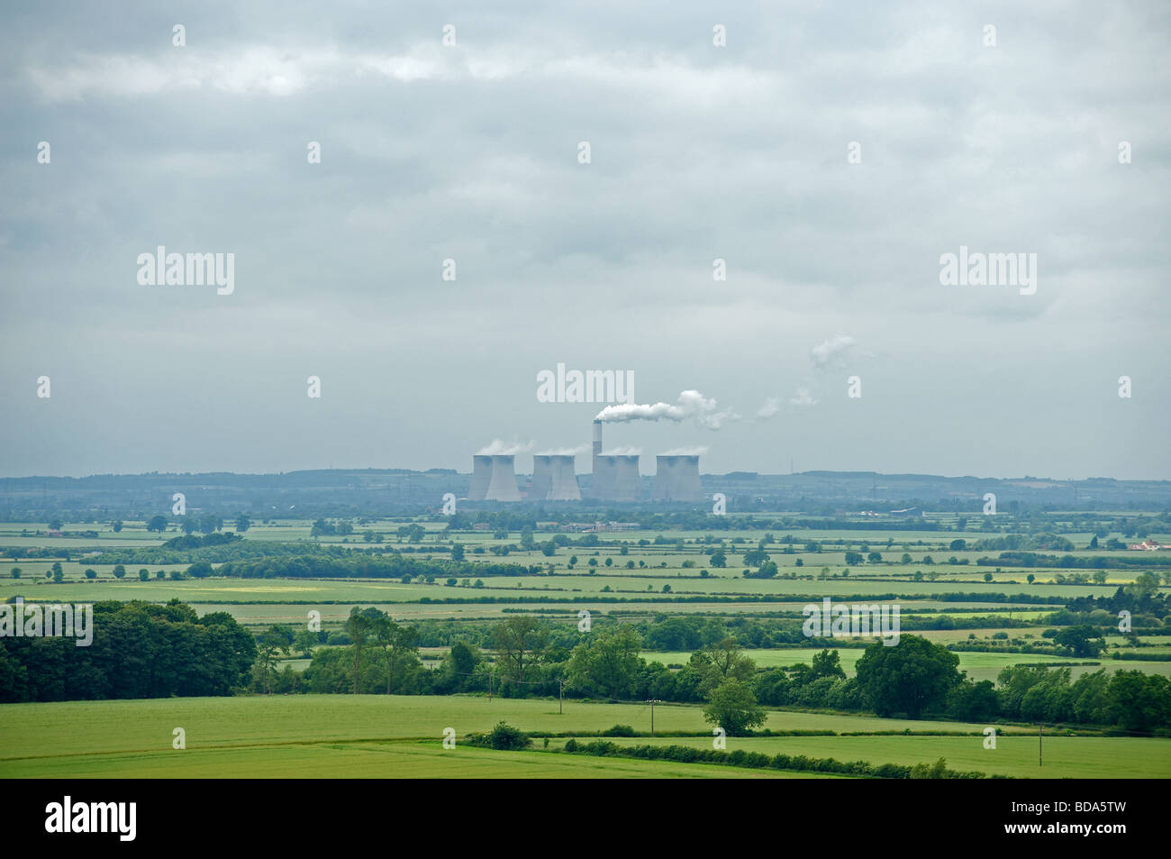 Cottam coal-fired power stations, Nottinghamshire, UK. - Stock Image