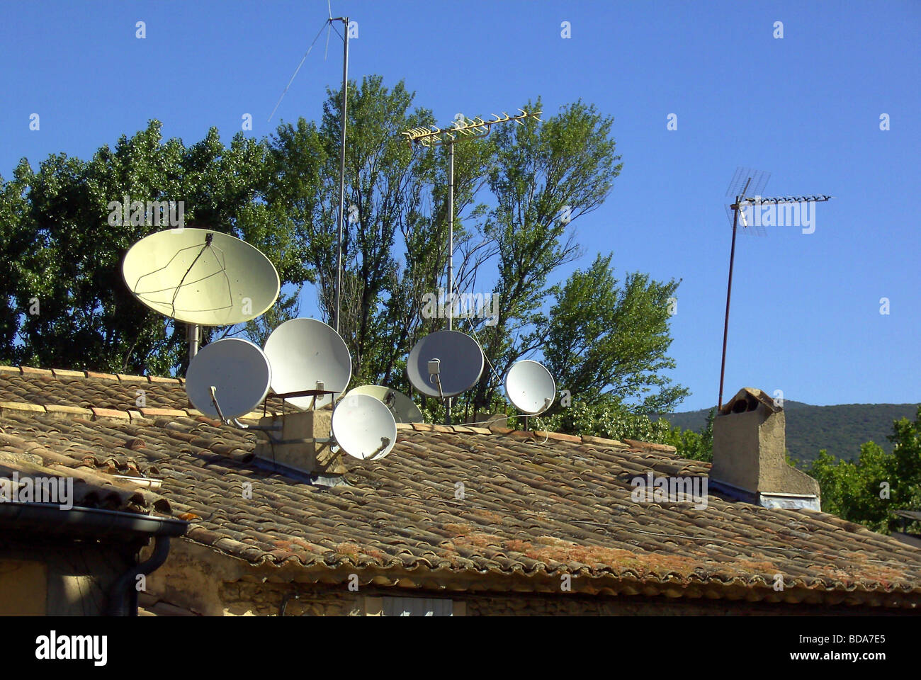 Satellitenschüssel satellite dish 01 Stock Photo