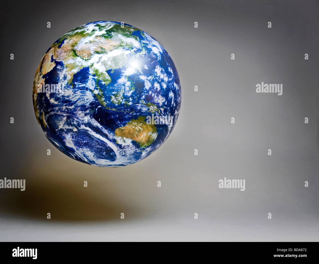 Still shot of a world globe - Stock Image