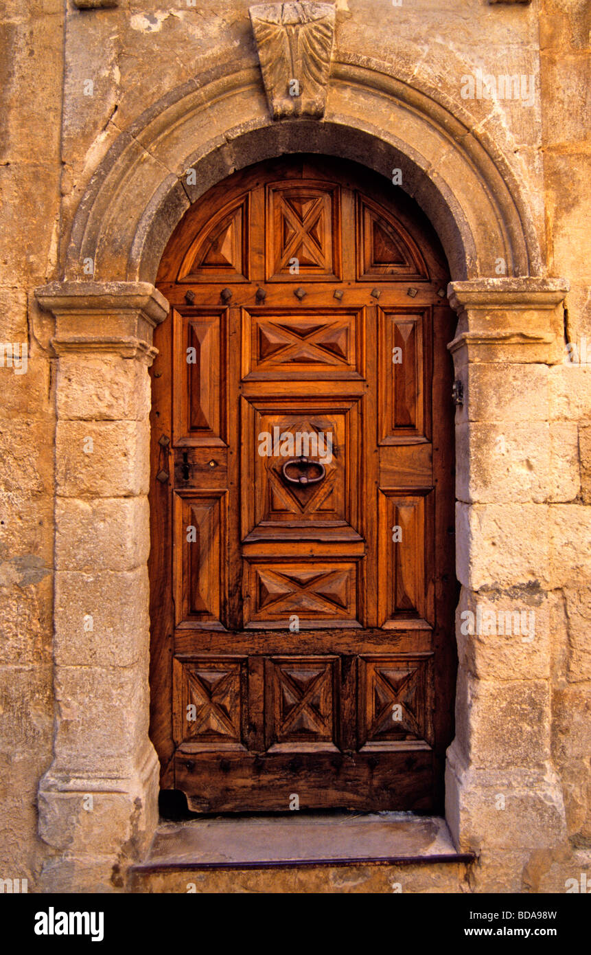 Decorative and unusual doors in Provence South of France & Decorative and unusual doors in Provence South of France Stock Photo ...