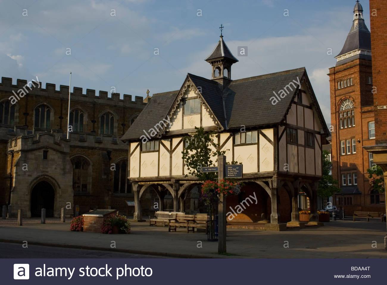 Market Harborough England Old Grammar School - Stock Image