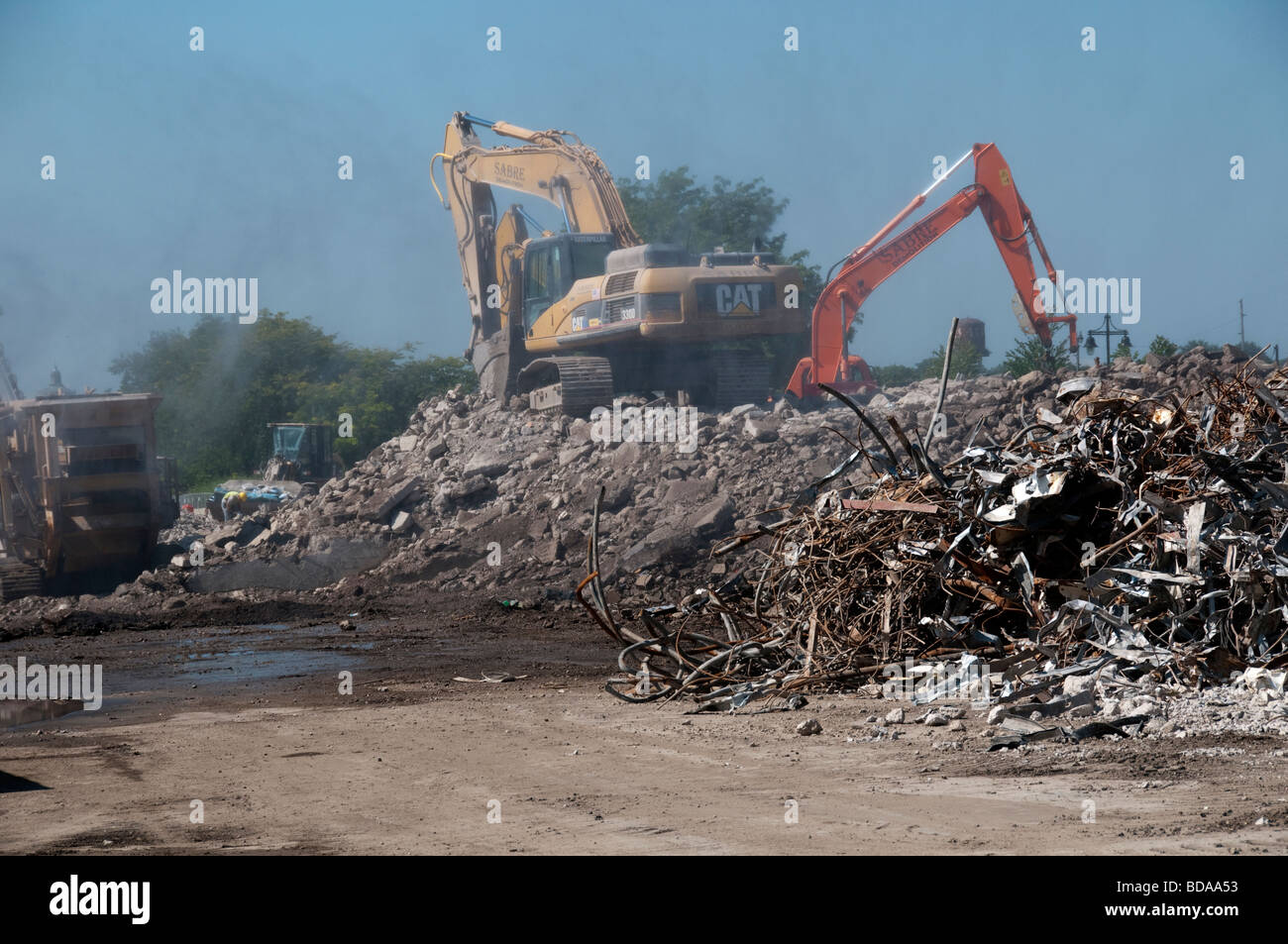 Urban renewal in Rochester NY USA. - Stock Image