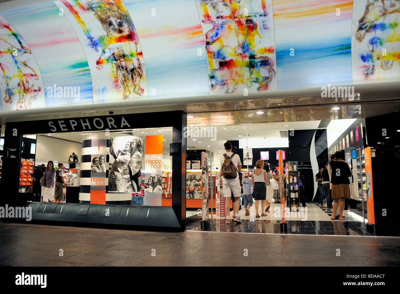 Paris France, Family Shopping at Sephora Cosmetics Shop at Forum des Halles, Shopping Center inside - Stock Image