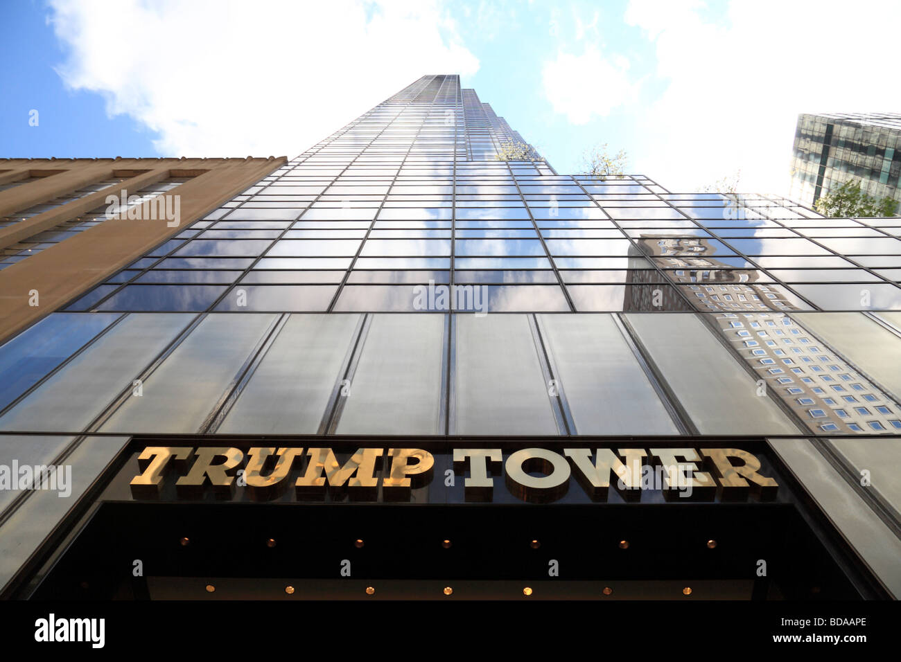The Trump Tower, on Fifth Avenue New York, United States.  It is the setting for 'The Apprentice' television - Stock Image