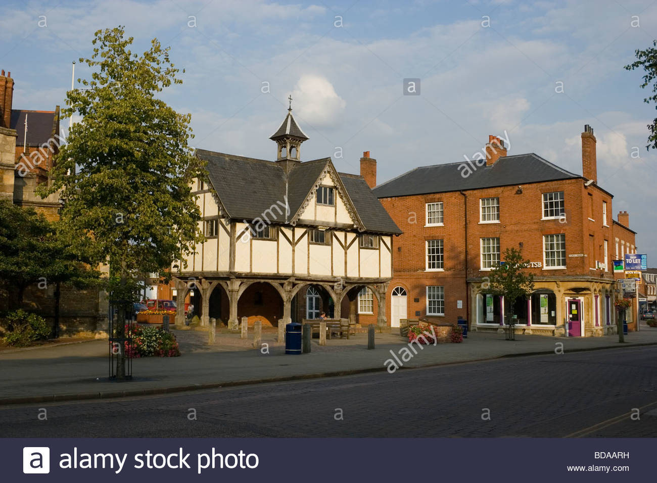 Market Harborough England Old Grammar School - Stock Image