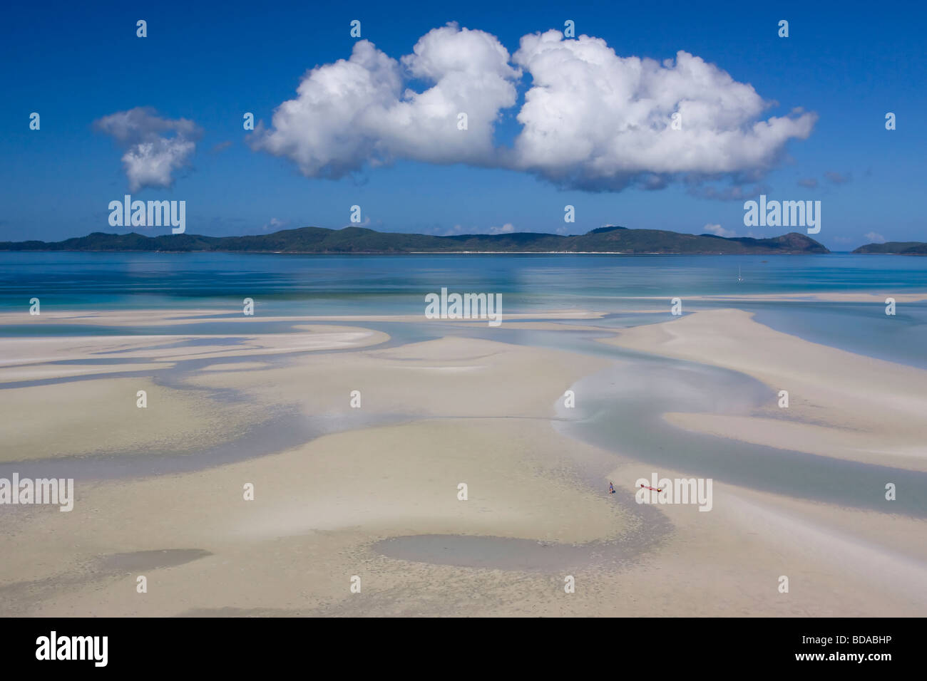 Whitsunday Island Whitehaven beach - Stock Image