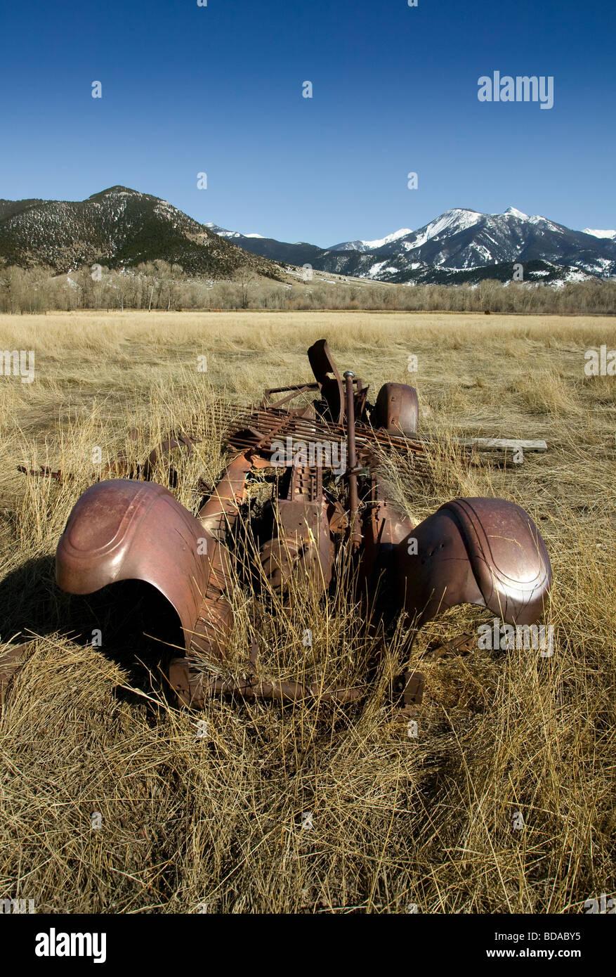 Old Car Montana - Stock Image