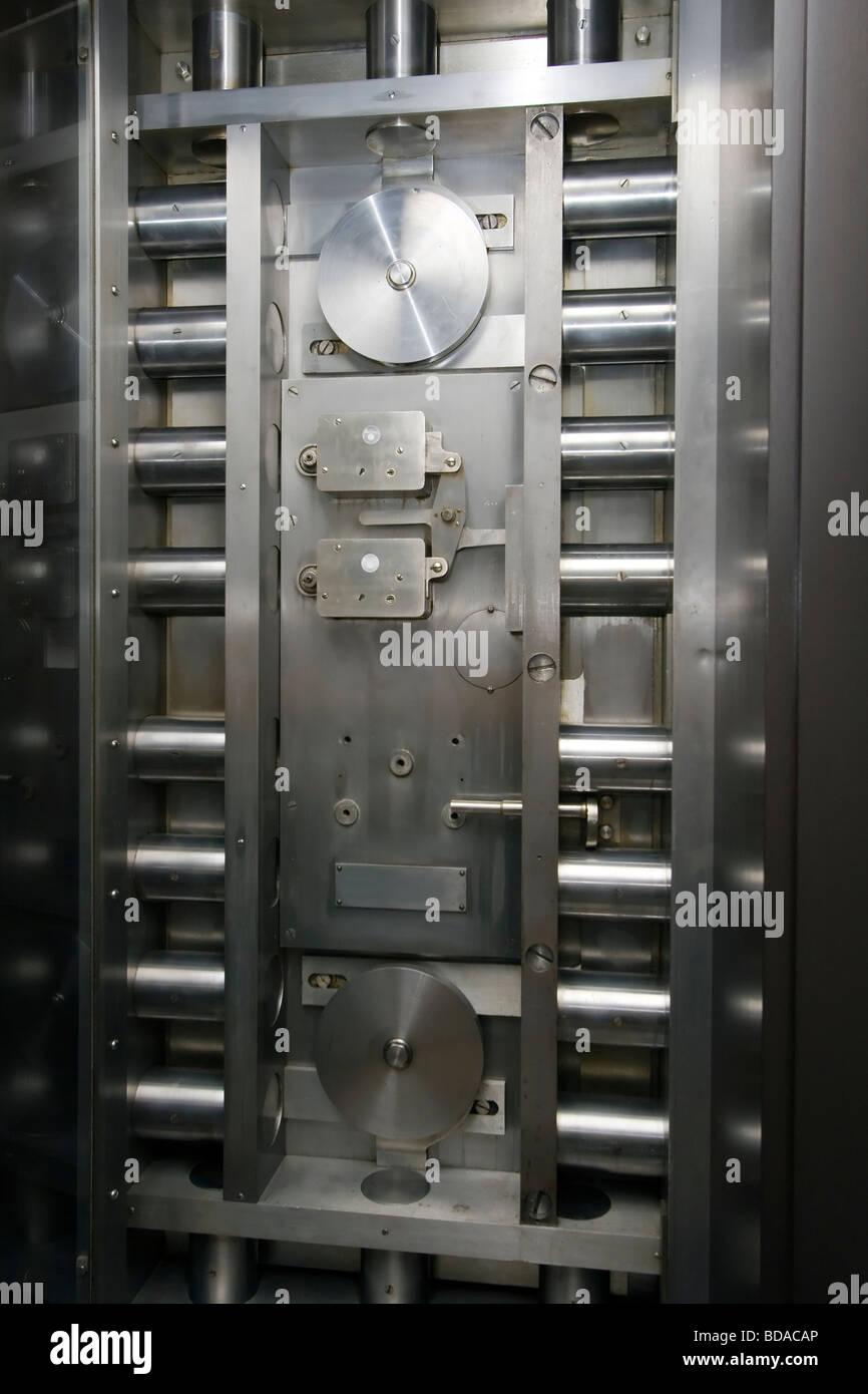 Steel BANK SAFE VAULT DOOR - Stock Image