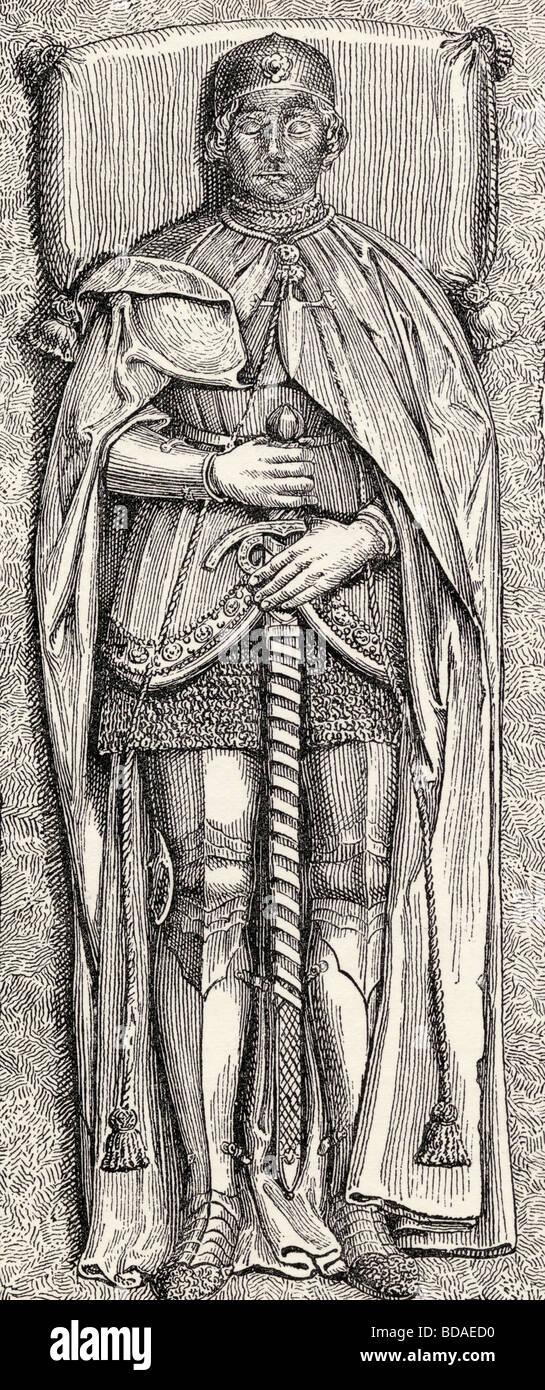 Effigy of Álvaro de Luna born circa 1390 died 1453.  Spanish nobleman and favourite of Juan II of Castile. - Stock Image