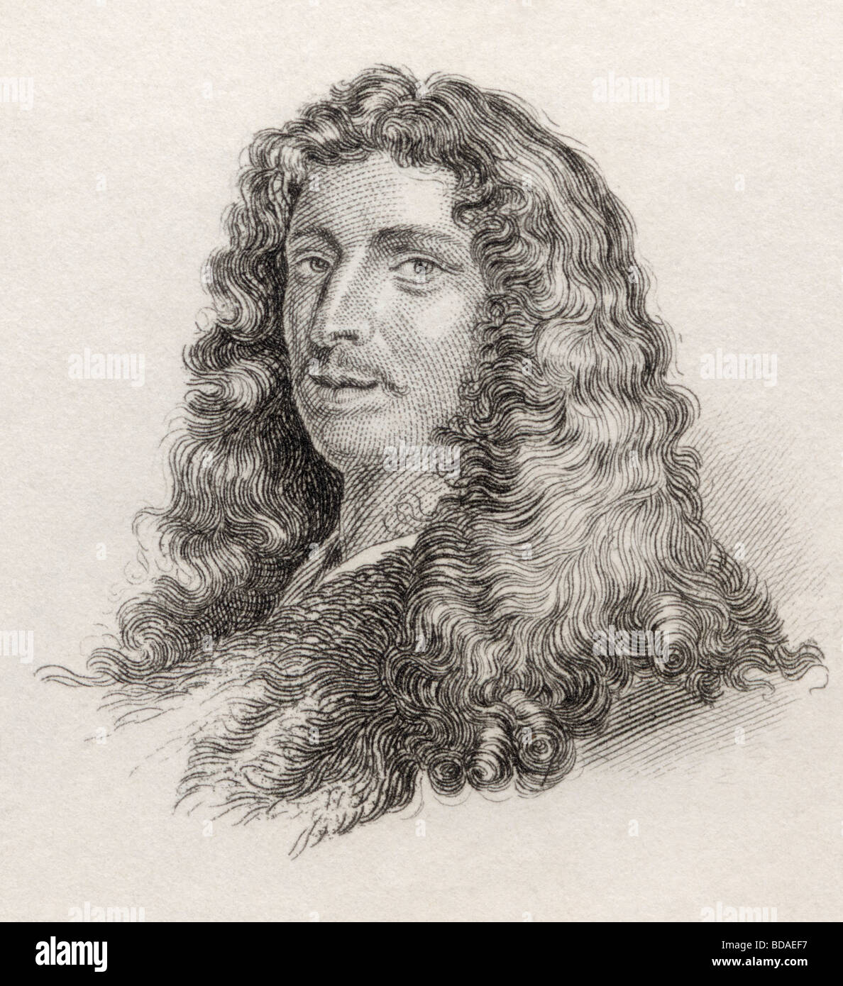 Charles Patin 1633 to 1693.  French doctor and antiquary. - Stock Image