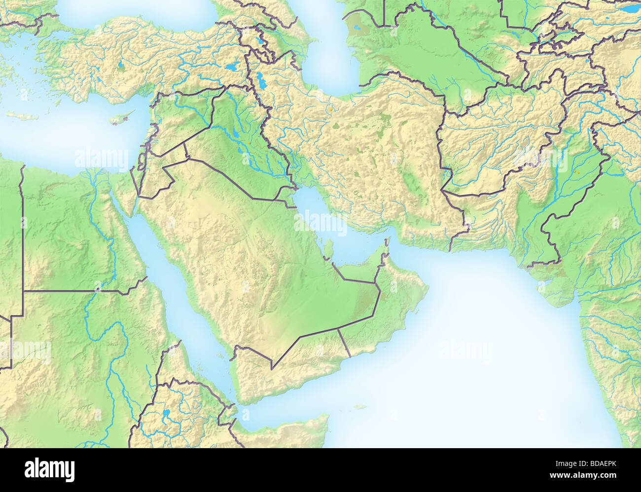 Middle East Topography Stock Photos Middle East Topography Stock