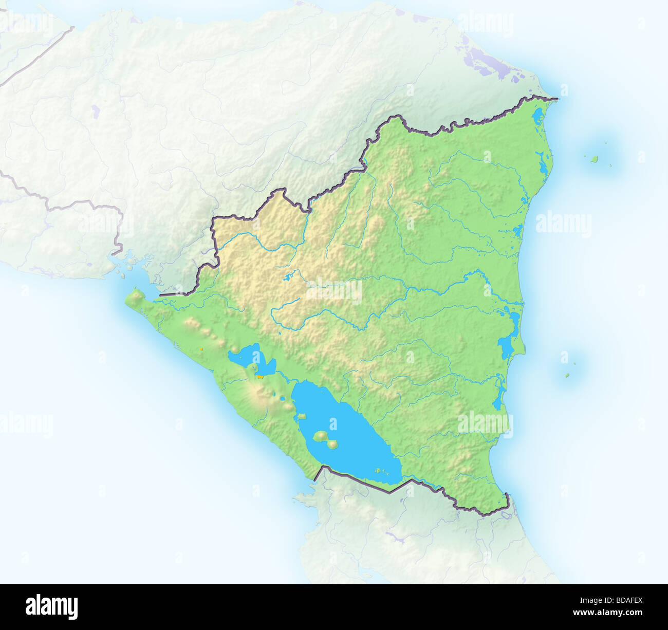 Nicaragua map stock photos nicaragua map stock images alamy nicaragua shaded relief map stock image gumiabroncs Gallery