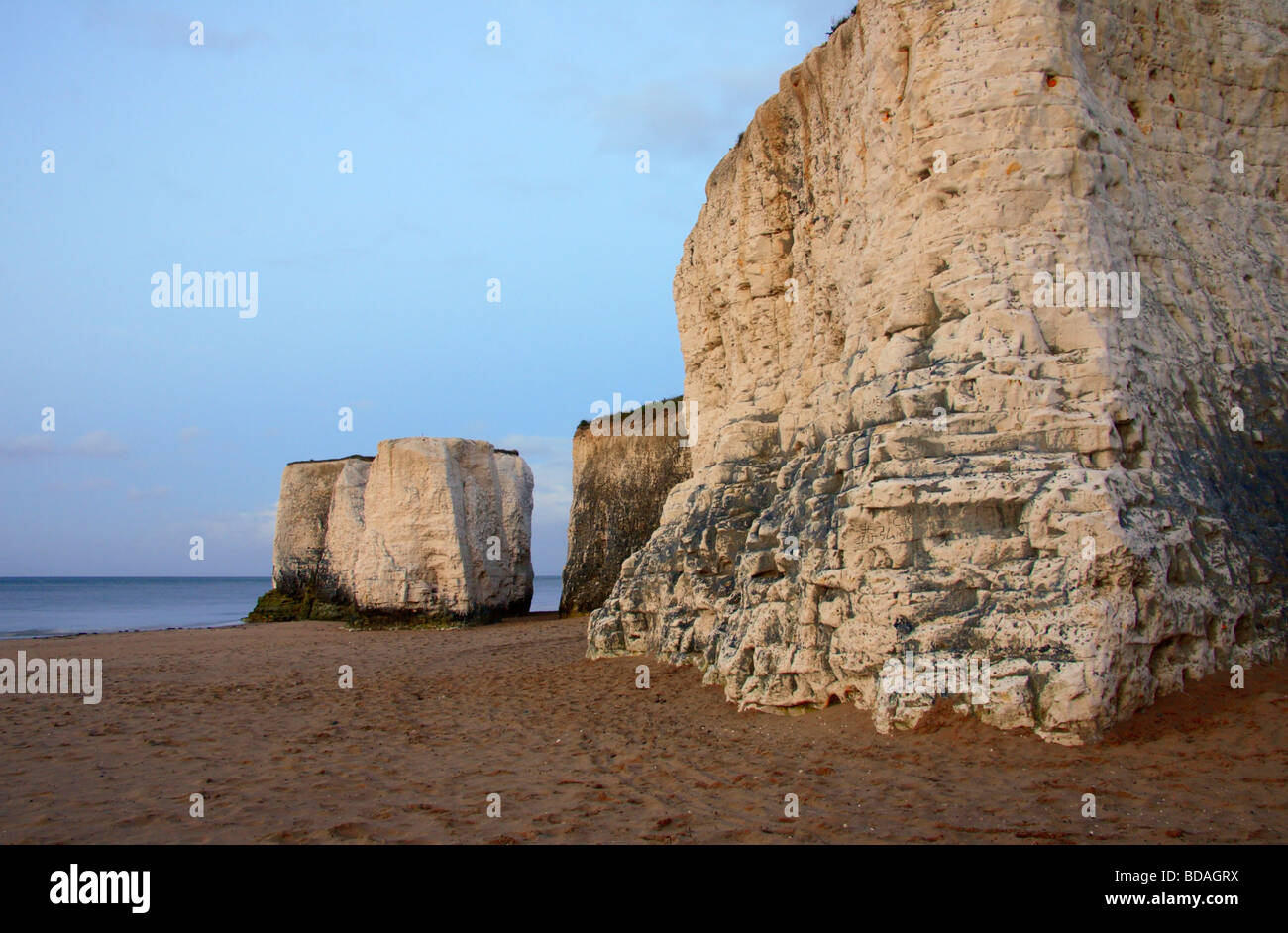 The chalk cliffs of 'Botany Bay' in Kent, England, UK. - Stock Image