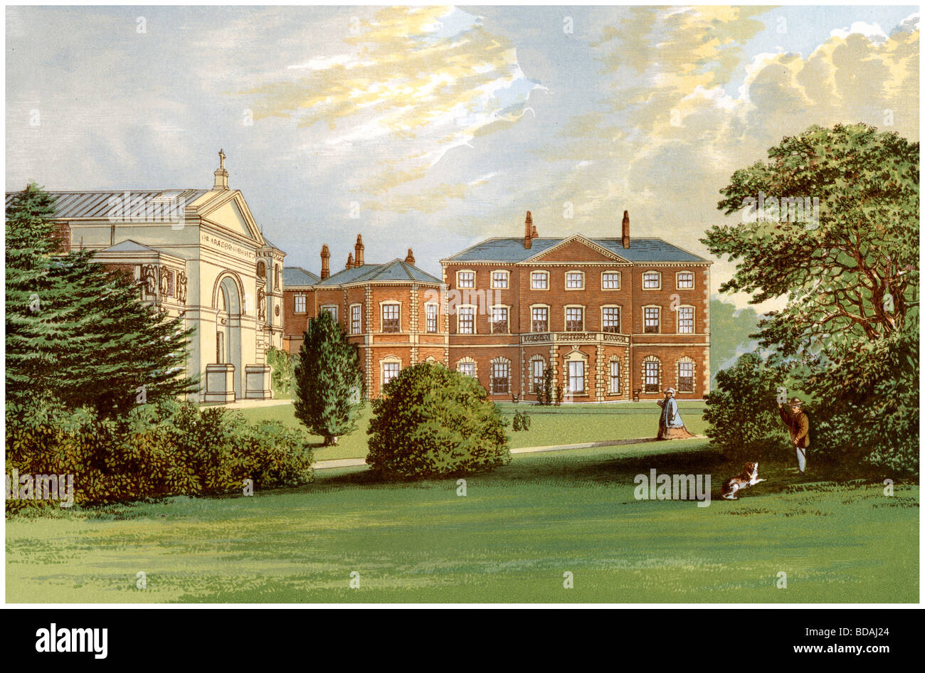 Everingham Park, Yorkshire, home of Lord Herries, c1880. Artist: Unknown - Stock Image