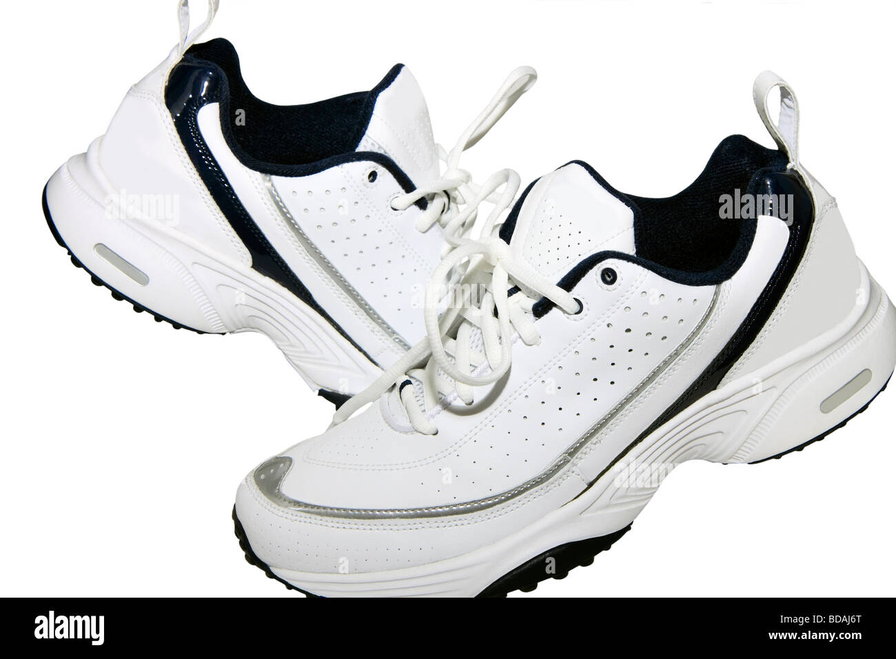 Comfortable shoes from natural leather for sport Stock Photo