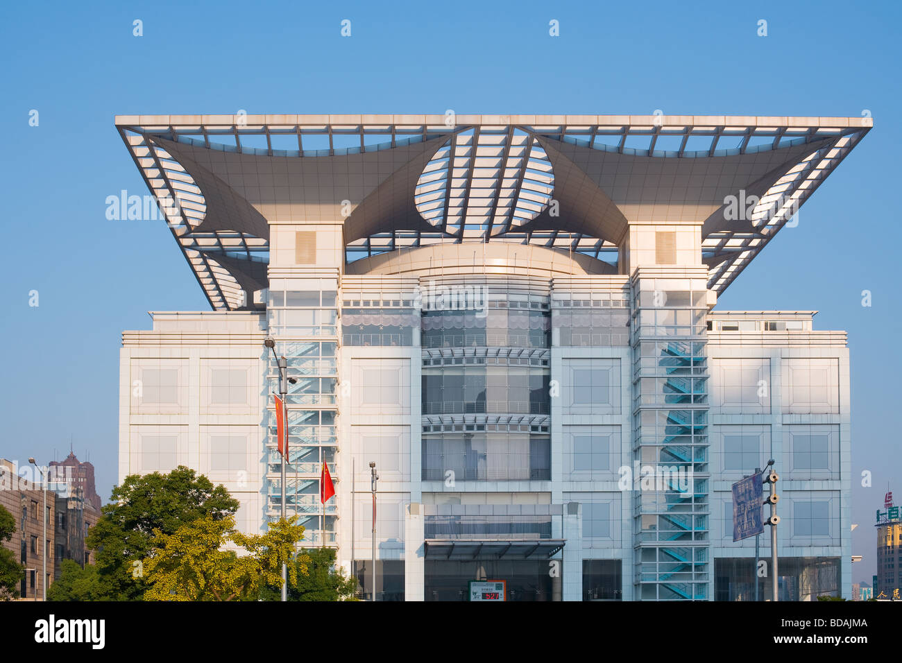 Shanghai Urban Planning Exhibition Center Renmin Park People s Square Huangpu district Shanghai China Asia Stock Photo