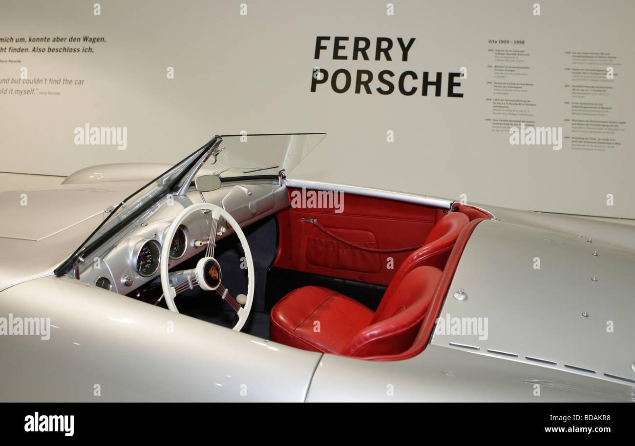 Porsche Carrera GT in the Porsche Museum in Stuttgart,Germany - Stock Image