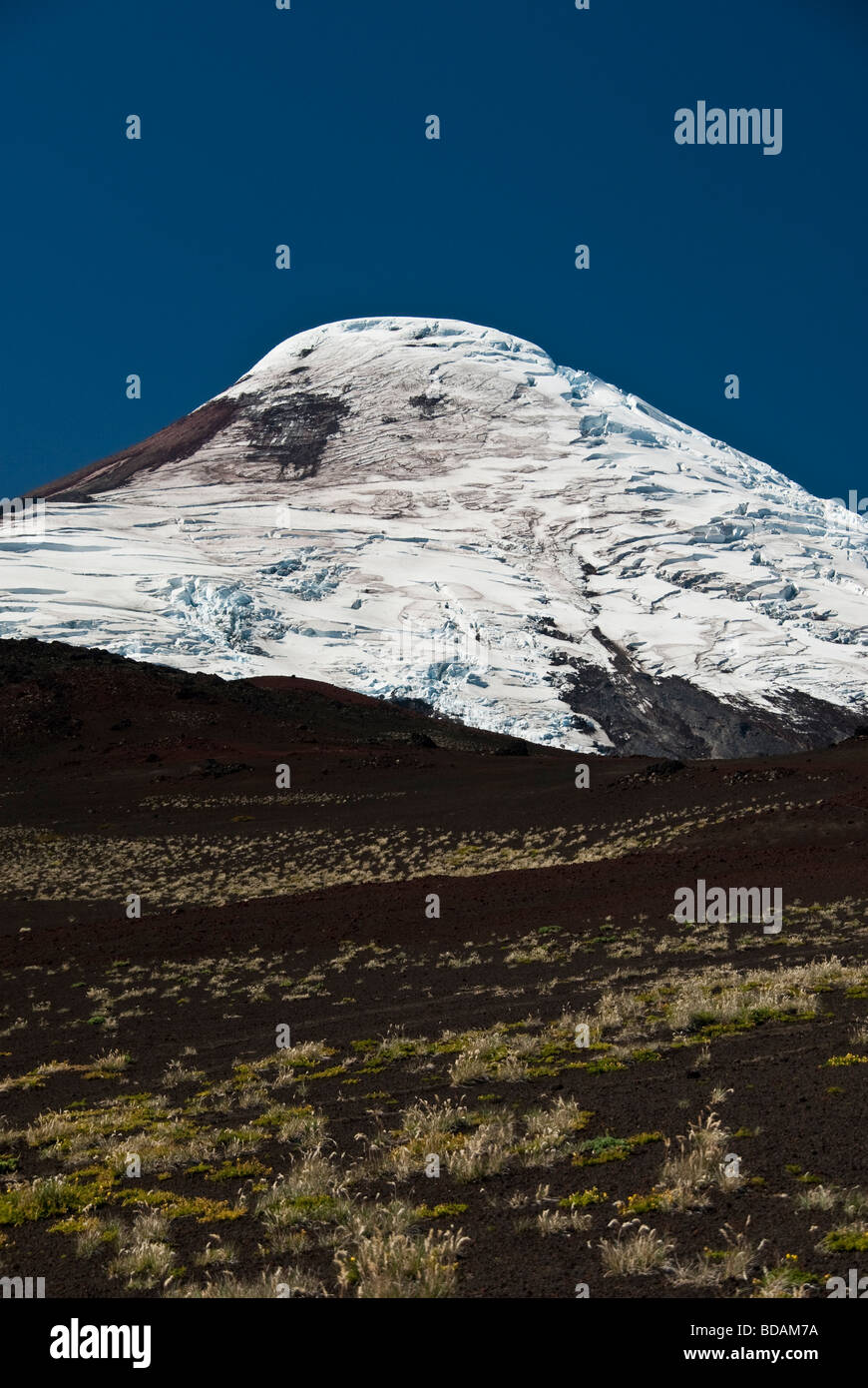 Vulcano Osorno, Glaciers crevasse, cracks. - Stock Image