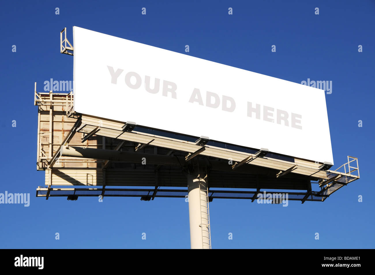 Billboard with blank space to add your text - Stock Image