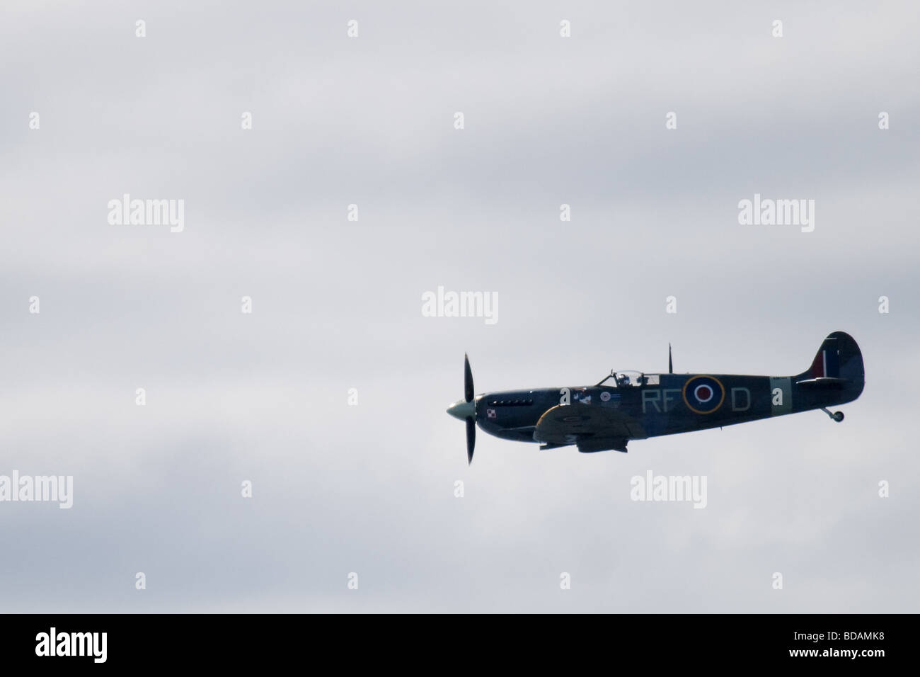 Spitfire at Blackpool Airshow 2009 - Stock Image