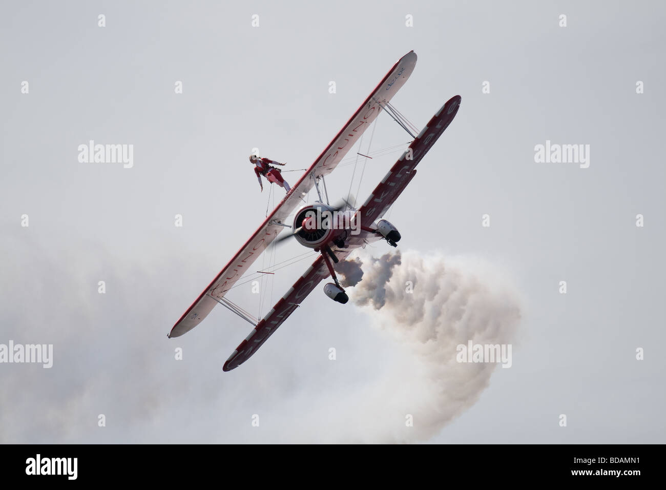 Guinot Wing Walker at Blackpool Airshow 2009 - Stock Image