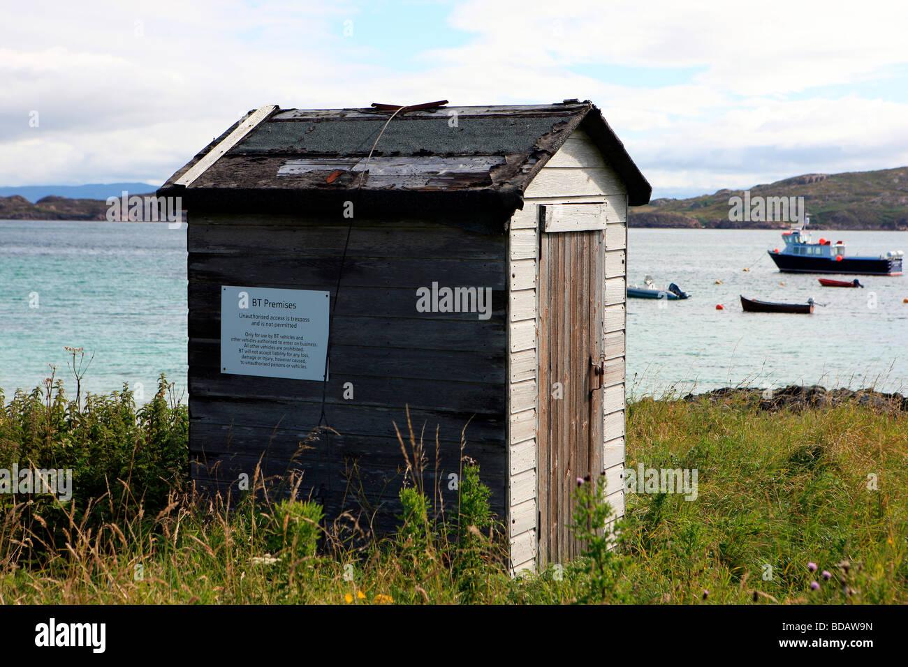 BT premises on the Isle of Iona Stock Photo