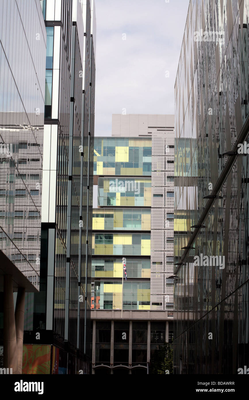 Manchester Civil Justice Centre Spinningfields Deansgate Manchester England - Stock Image
