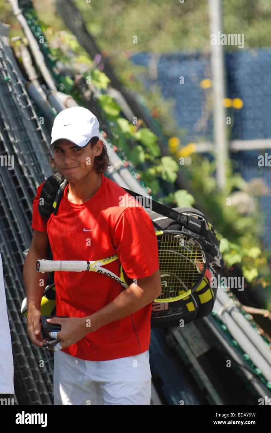 Rafael Nadal - professional tennis player - Stock Image