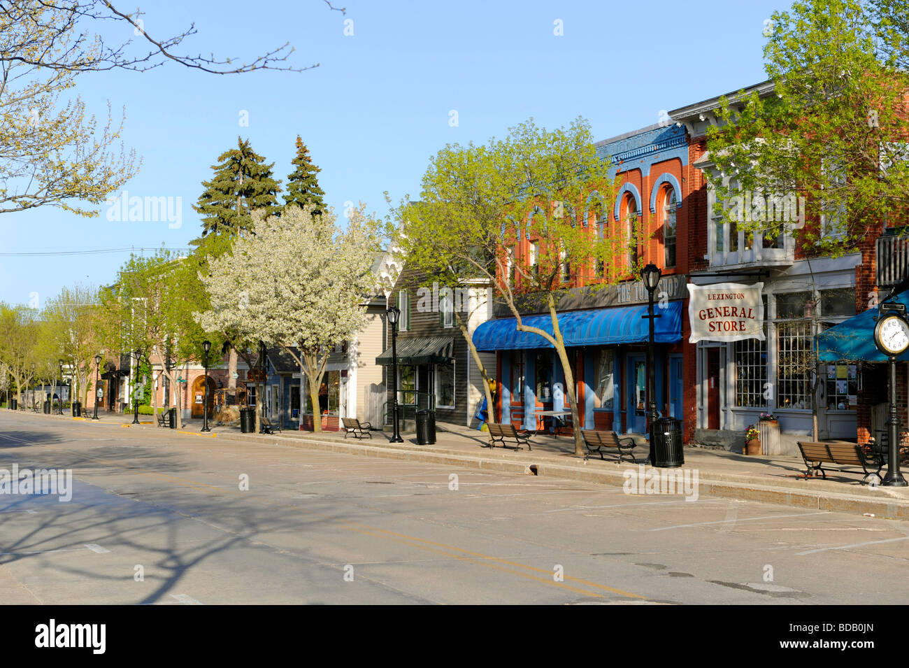 lexington michigan tourist destination downtown area stock photo 25442893 alamy. Black Bedroom Furniture Sets. Home Design Ideas