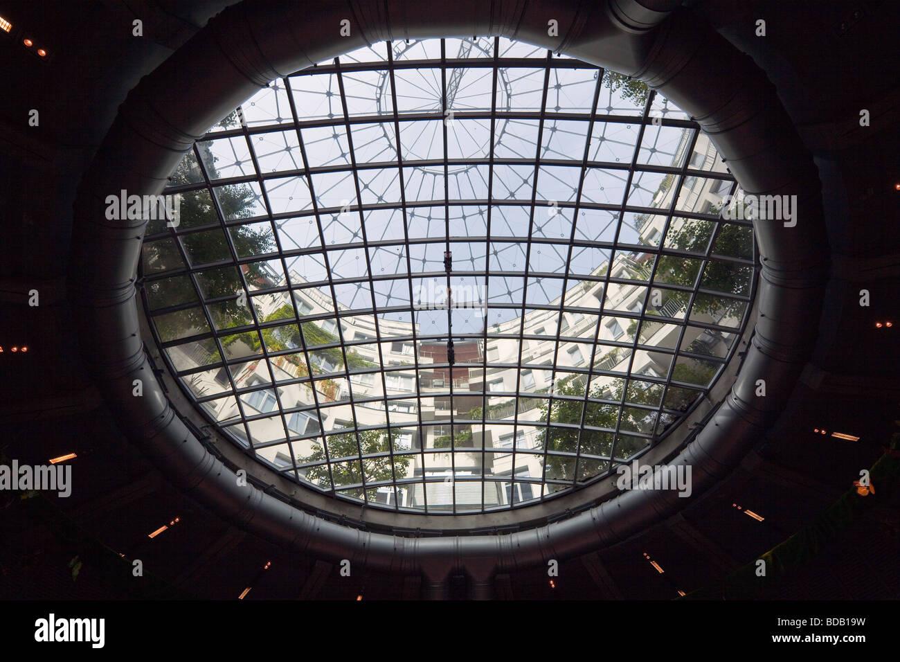 interior of Gasometer, Gasometer City, Simmering, Vienna, Austria - Stock Image