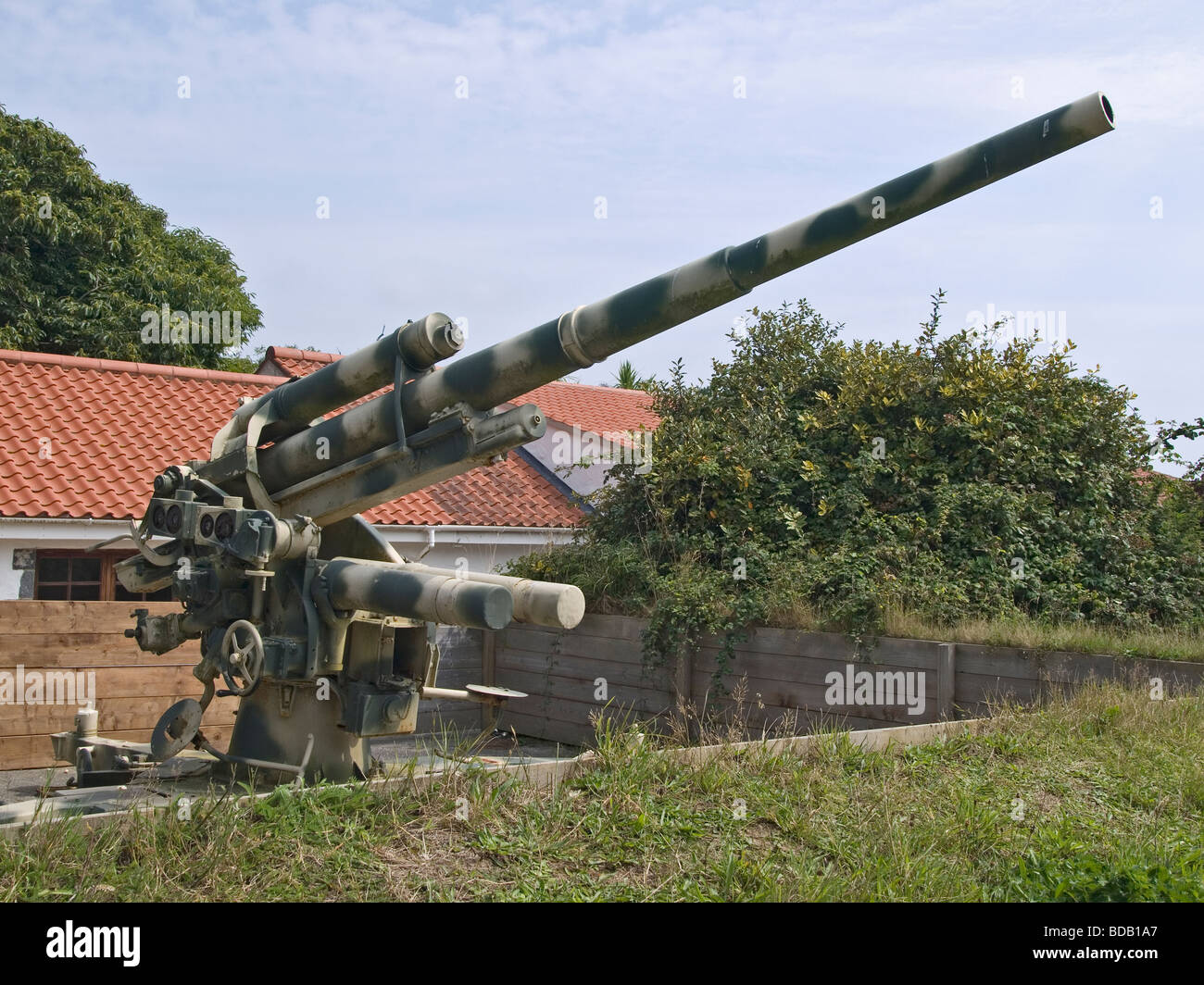 88mm flak 36 anti aircraft or anti tank gun at the german occupation