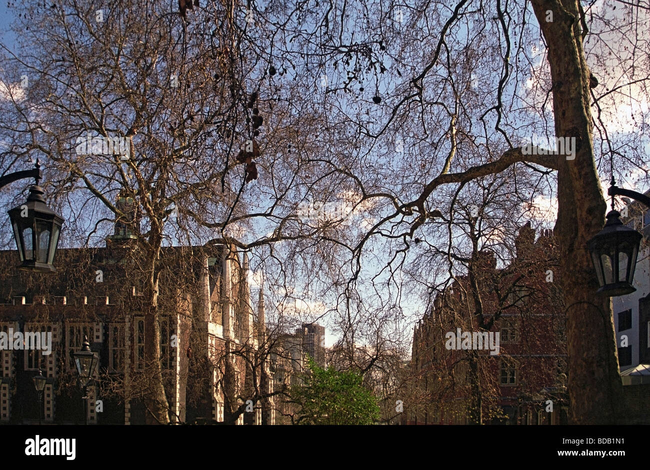 Fountain Court in the Spring, Legal London - Stock Image