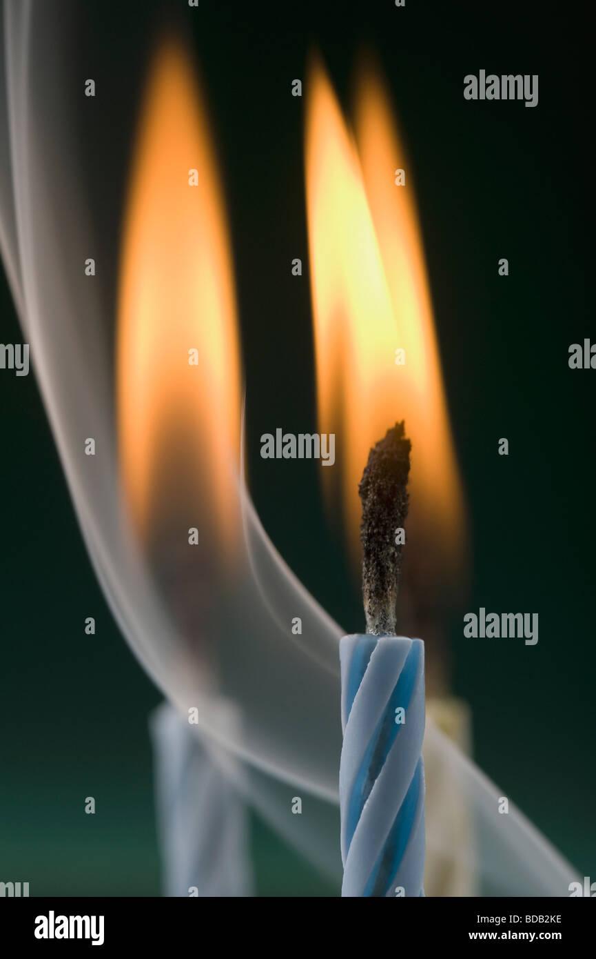 Close Up Of Burning Birthday Candles