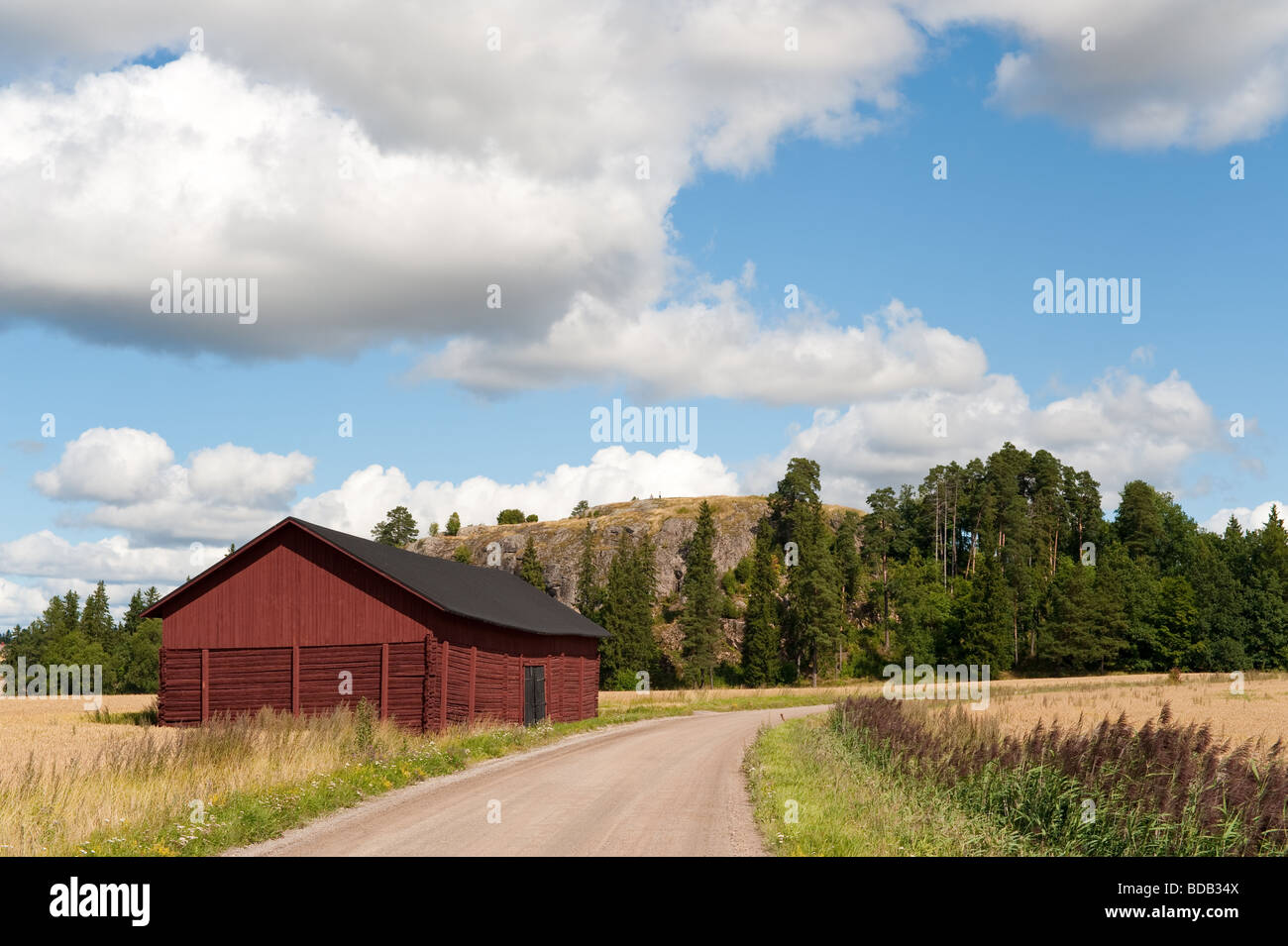Prehistoric fortified hill of Vanhalinna from Turku Finland - Stock Image