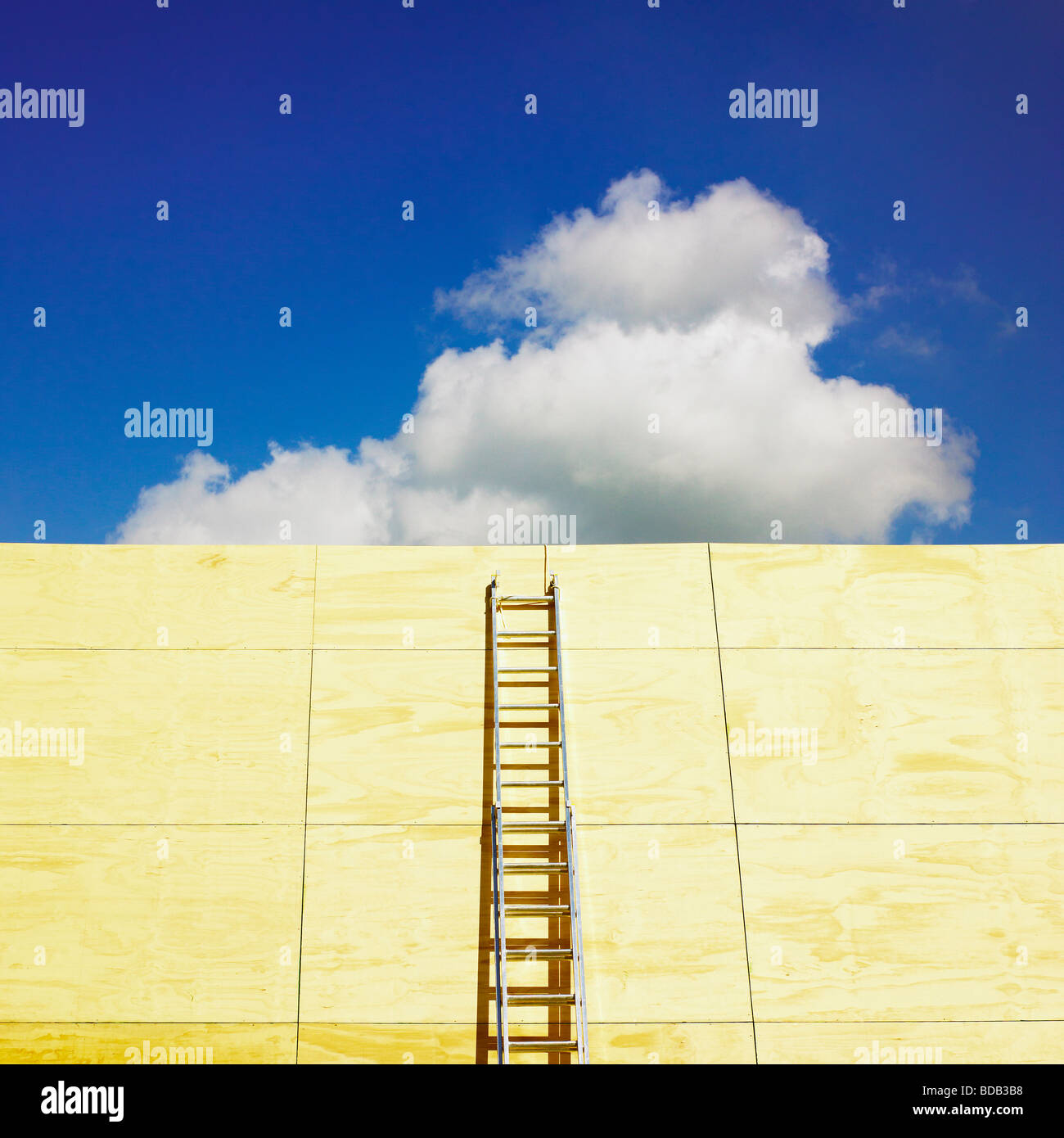Ladder and blue sky. - Stock Image