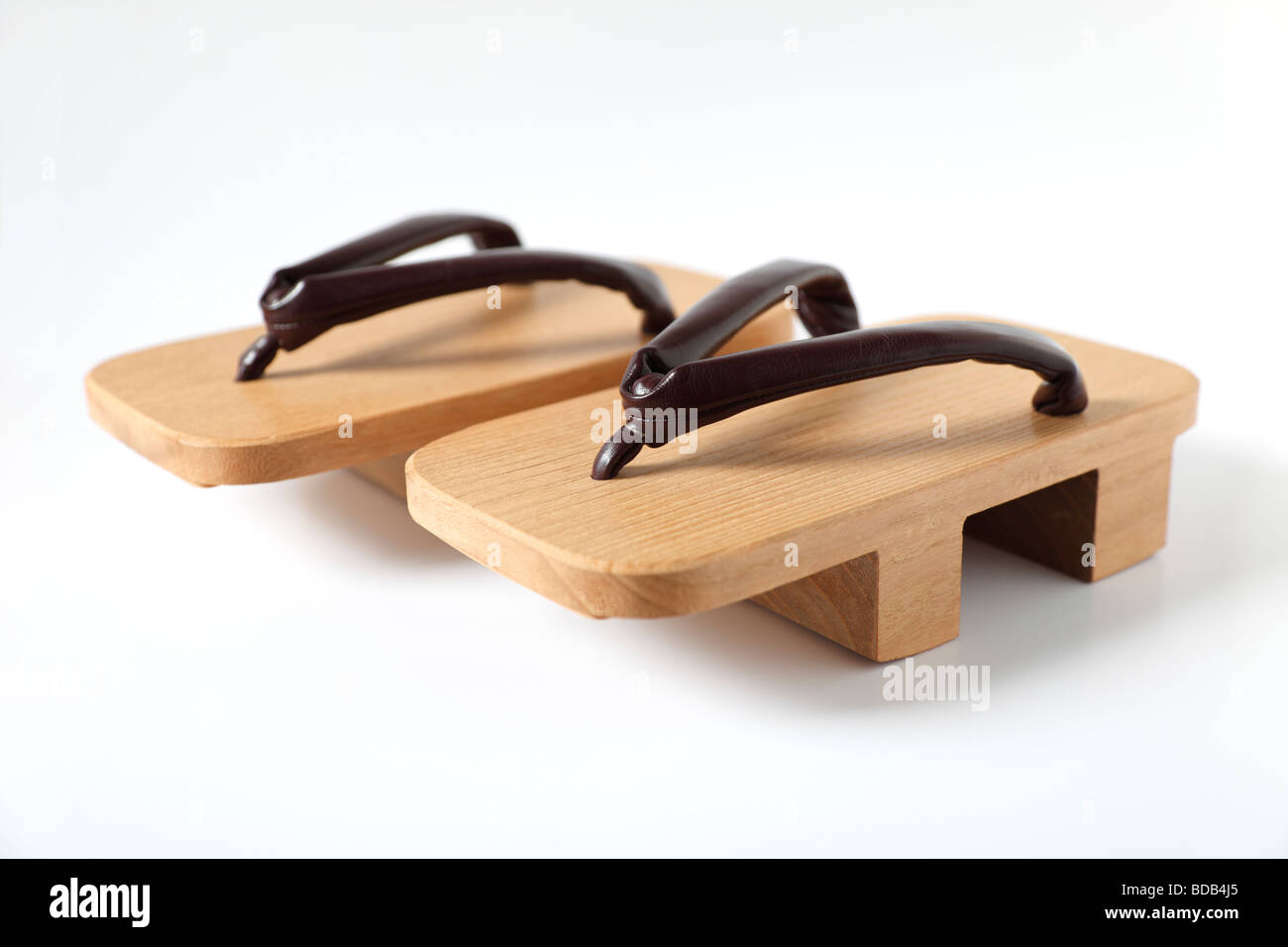 Japanese Wooden Sandals High Resolution