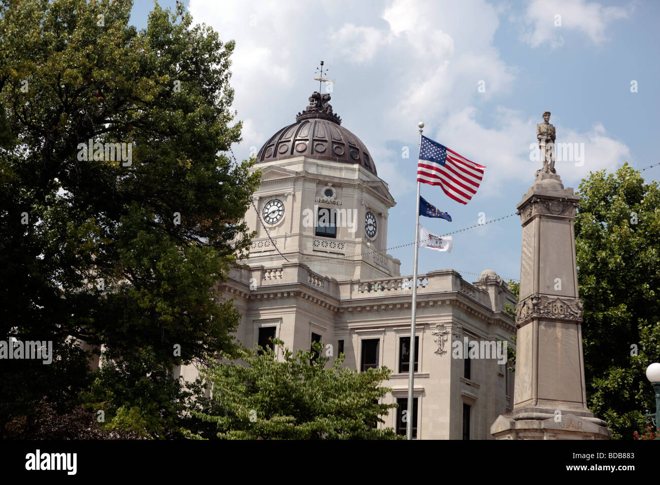 The Monroe County Courthouse in Bloomington, Indiana has a