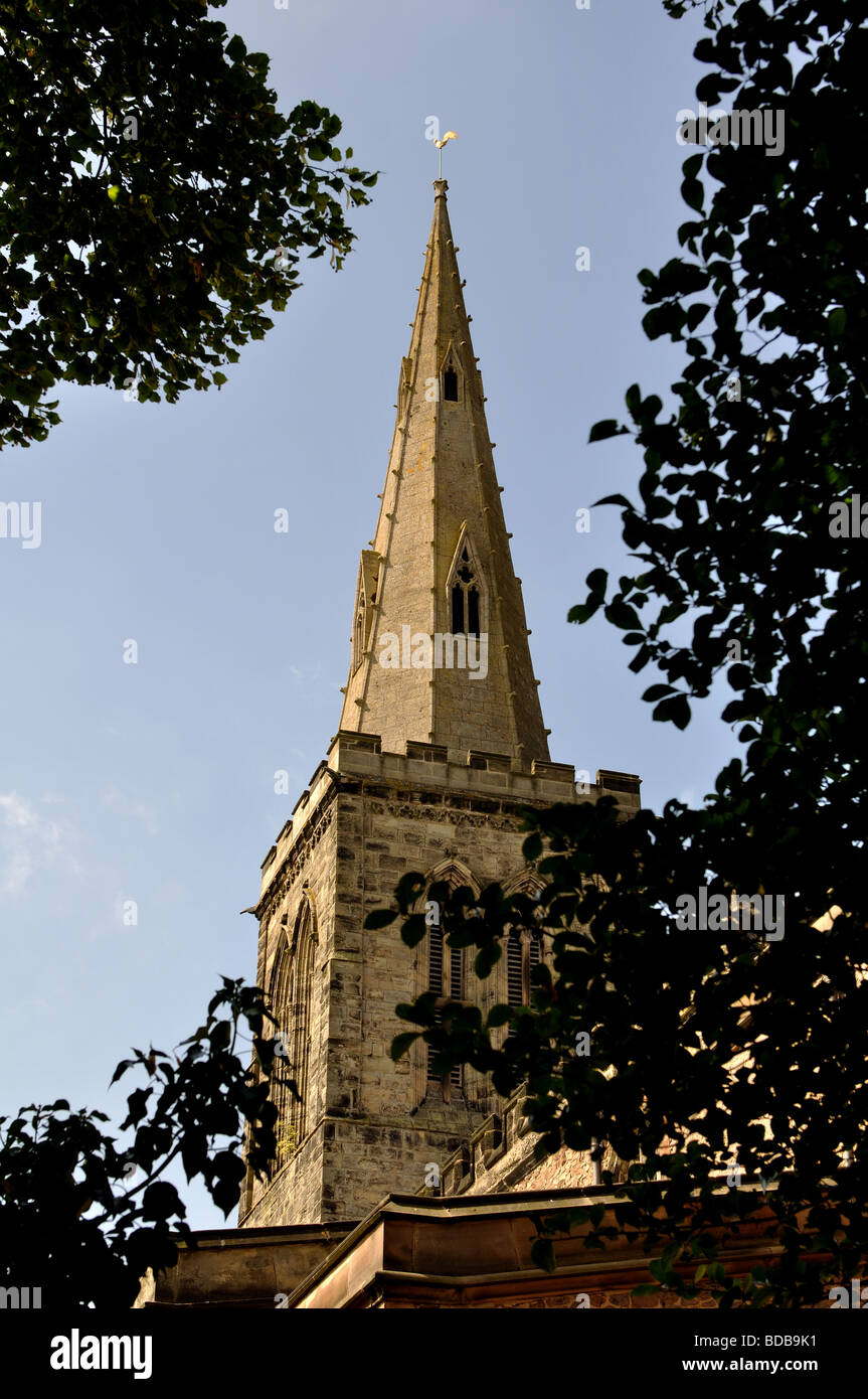 All Saints Church, Wigston, Leicestershire, England, UK - Stock Image