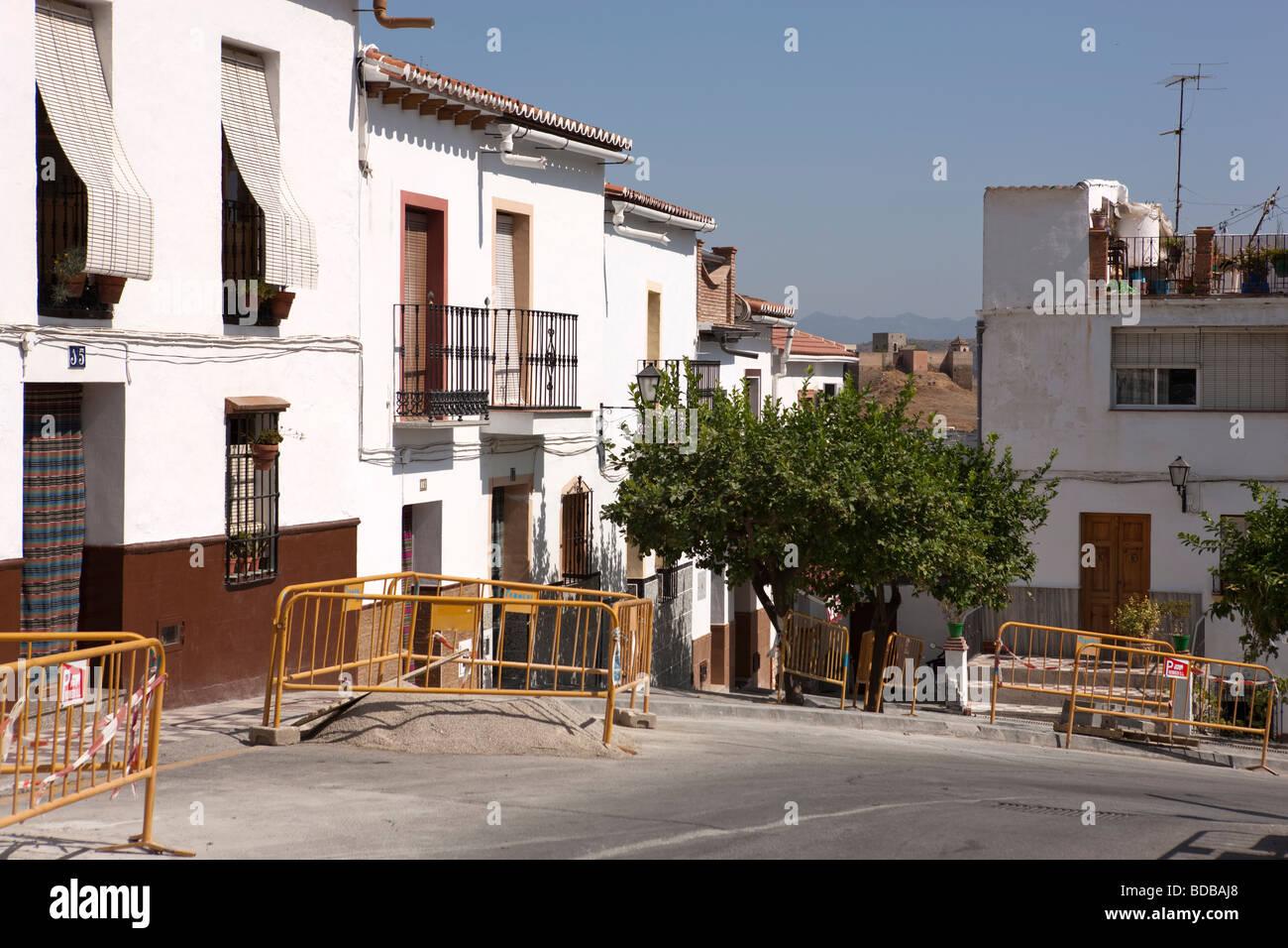 White village Alora. Malaga. Costa del Sol. Andalucia. Spain. Europe Stock Photo