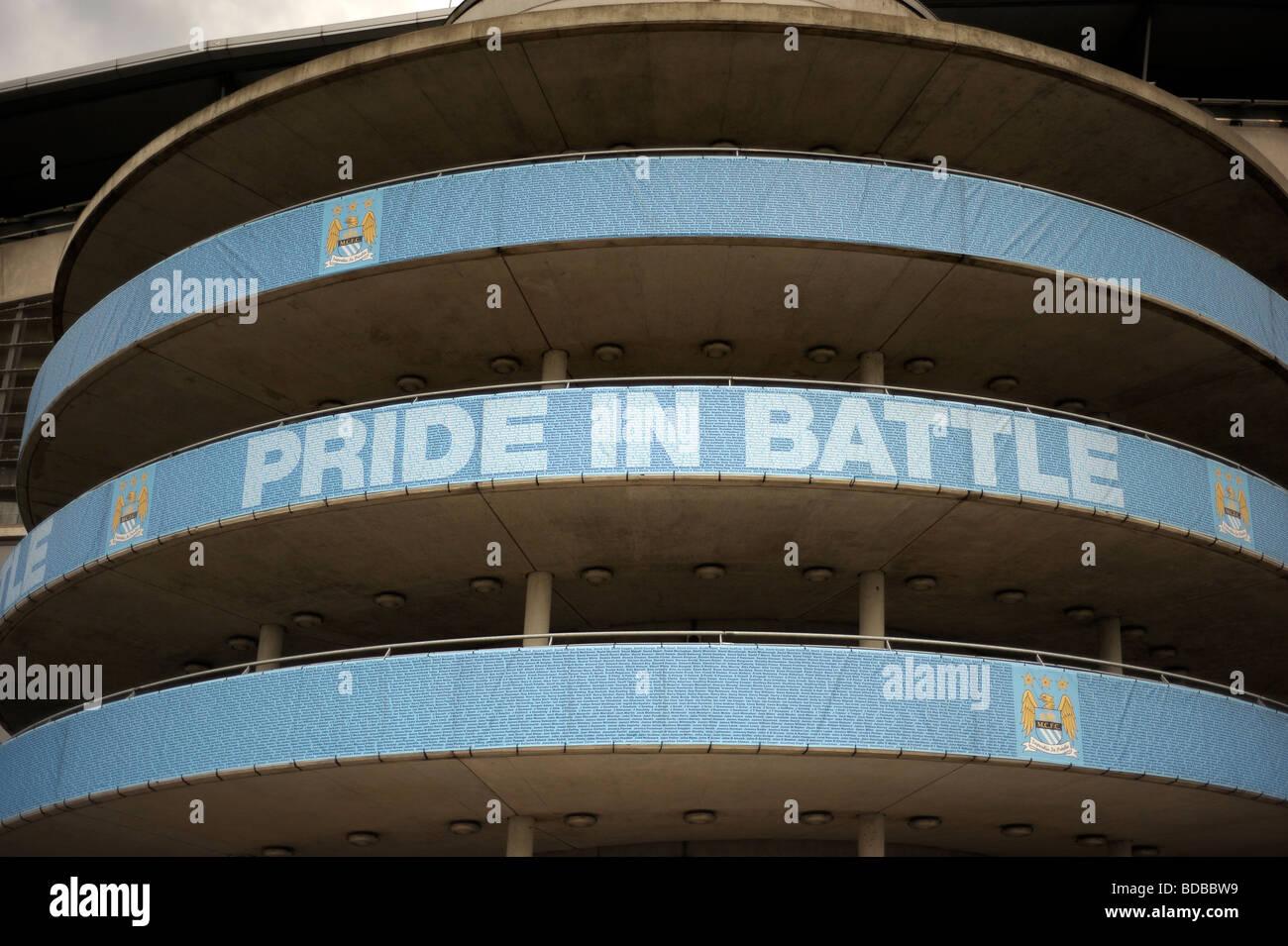 pride in battle spiral etihad stadium - Stock Image
