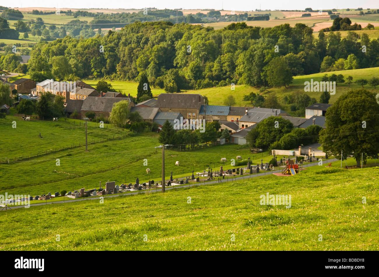 French village Vaux-Villaine, Ardennes, France, 08 - Stock Image