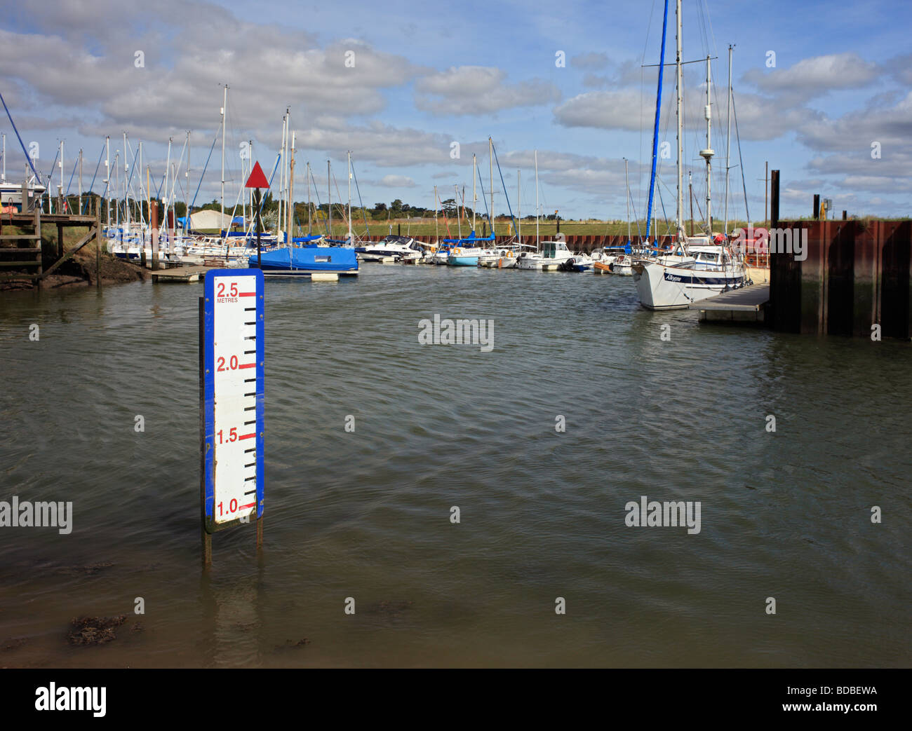 Entrance into Woodbridge harbour. Deben Estuary, Suffolk, East Anglia, England, UK. - Stock Image