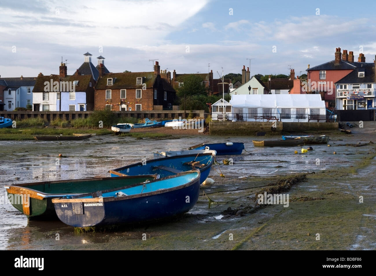 Rowing boats near Stour Sailing Club - Stock Image
