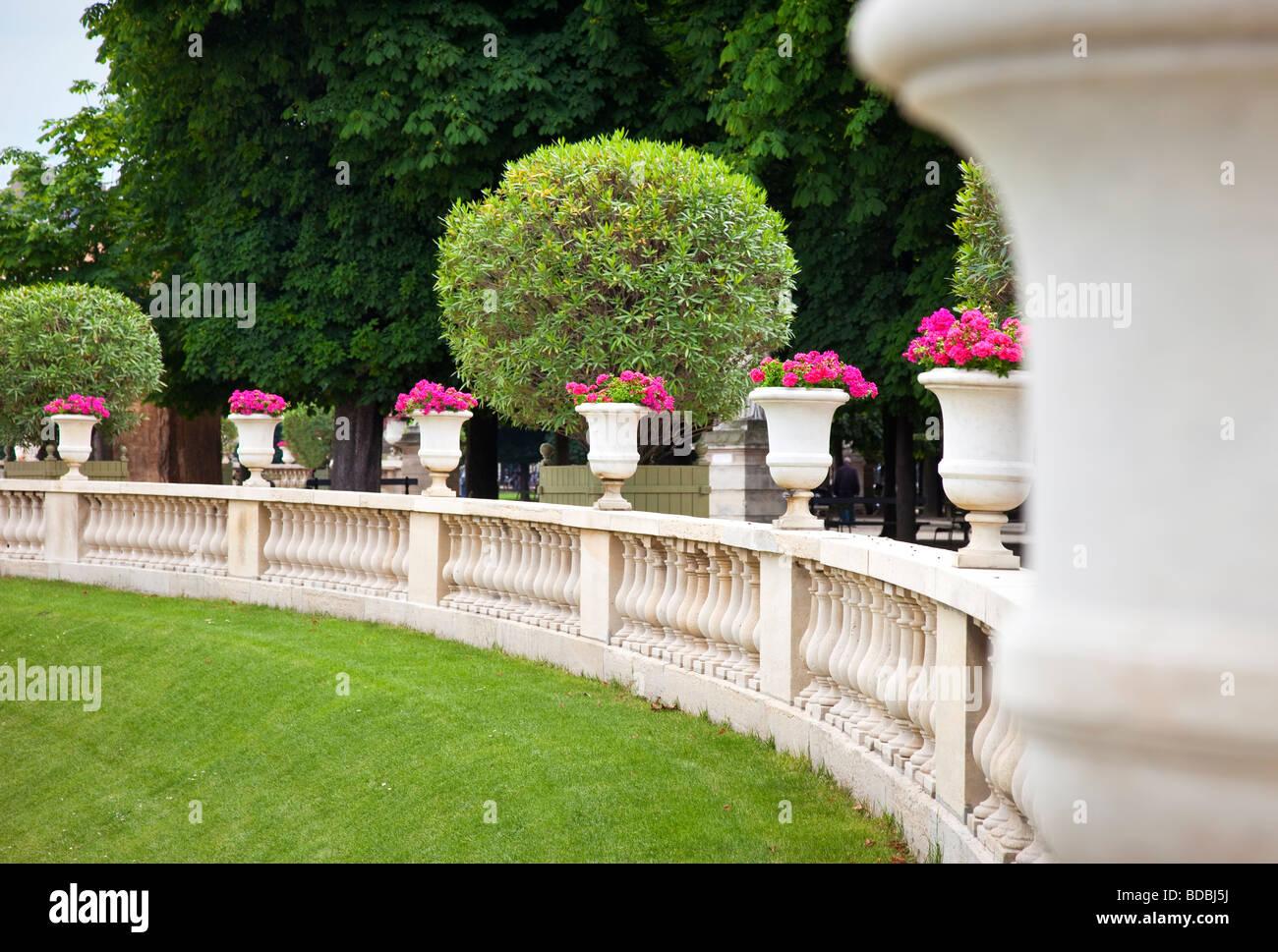 Jardin du Luxembourg, Paris France - Stock Image